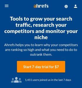 Ahrefs Backlinks Checker Tool