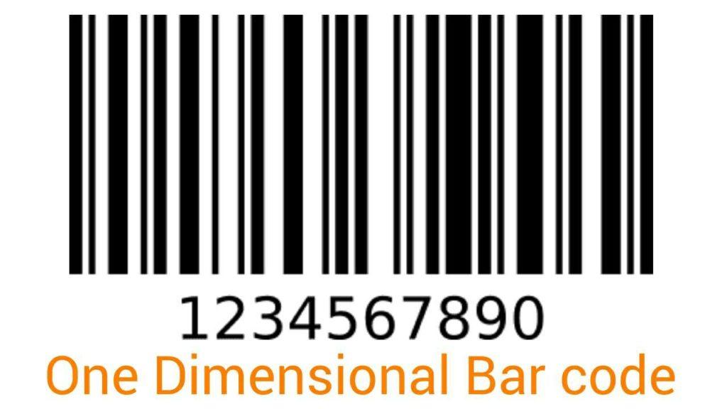 One Dimensional Bar Code
