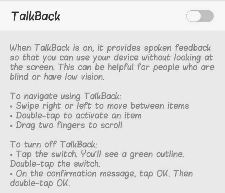 Android फ़ोनमें यूज़ होनेवाली 5 जरूरी Settings Talk back feature