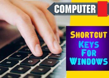 Windows Computer Keyboard Shortcuts